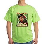 No Bad Evil Women (Front) Green T-Shirt
