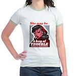 No Bad Evil Women Jr. Ringer T-Shirt