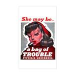 No Bad Evil Women Rectangle Sticker