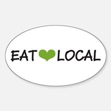 Eat Local Oval Decal