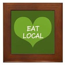 Eat Local Framed Tile