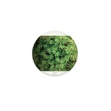 Marajuana Weed Pot Mini Button