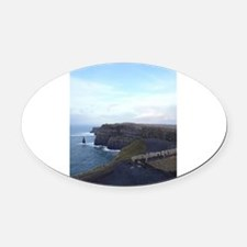 Cliffs of Moher Oval Car Magnet