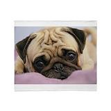 Pug Throw Blankets