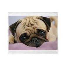 Pug Puppy Throw Blanket