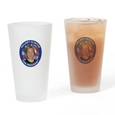 Hillary Clinton Drinking Glass