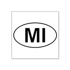 "Funny Michigan Square Sticker 3"" x 3"""