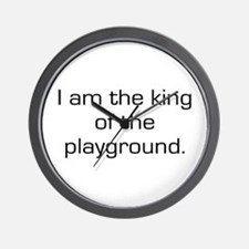 King of Playground Wall Clock