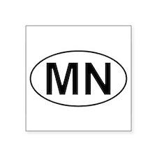 "Cute Minnesota Square Sticker 3"" x 3"""