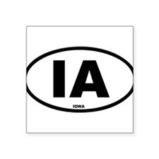 "Cute Iowa Square Sticker 3"" x 3"""
