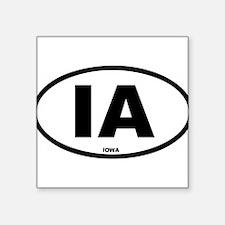 """Unique Iowa Square Sticker 3"""" x 3"""""""
