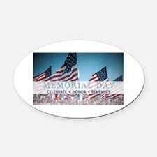 Memorial Day Oval Car Magnet
