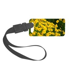 Gold Flowers Luggage Tag