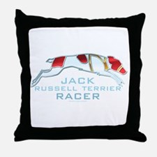 Jack Russell Terrier Racer Throw Pillow