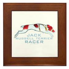 Jack Russell Terrier Racer Framed Tile