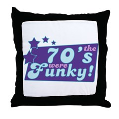 Funky Seventies Throw Pillow