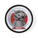 Binky's Red Portrait Wall Clock