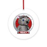 Binky's Red Portrait Ornament (Round)