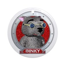 Binky's Red Portrait Ornament (Round)