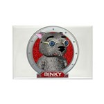 Binky's Red Portrait Rectangle Magnet (100 pack)