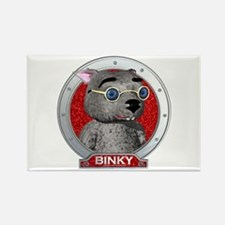 Binky's Red Portrait Rectangle Magnet