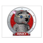 Binky's Red Portrait Small Poster