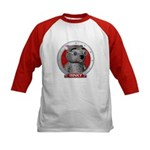 Binky's Red Portrait Kids Baseball Jersey