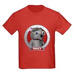 Binky's Red Portrait Kids Dark T-Shirt