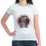 Binky's Red Portrait Jr. Ringer T-Shirt
