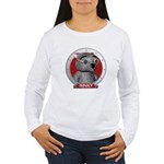 Binky's Red Portrait Women's Long Sleeve T-Shirt