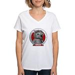 Binky's Red Portrait Women's V-Neck T-Shirt