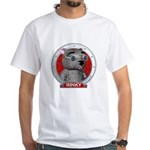 Binky's Red Portrait White T-Shirt