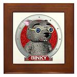 Binky's Red Portrait Framed Tile