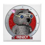 Binky's Red Portrait Tile Coaster