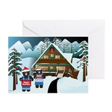 Winter Bears Greeting Cards