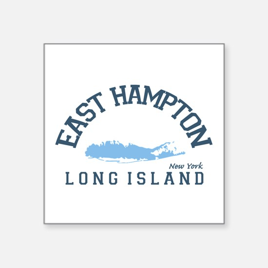 "East Hampton - New York. Square Sticker 3"" X"