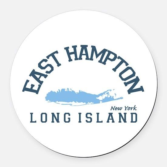 East Hampton - New York. Round Car Magnet