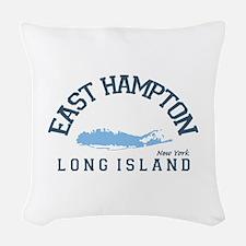 East Hampton - New York. Woven Throw Pillow