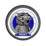 Binky's Blue Portrait Wall Clock