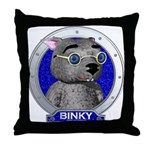 Binky's Blue Portrait Throw Pillow