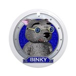 Binky's Blue Portrait Ornament (Round)