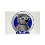 Binky's Blue Portrait Rectangle Magnet (100 pack)
