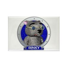 Binky's Blue Portrait Rectangle Magnet