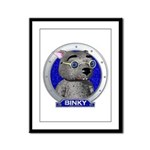 Binky's Blue Portrait Framed Panel Print