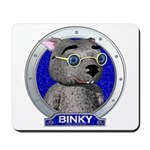 Binky's Blue Portrait Mousepad