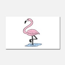 pink flamingo Car Magnet 20 x 12