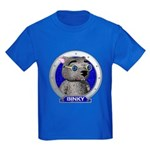 Binky's Blue Portrait Kids T-Shirt Dark Colored
