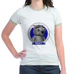 Binky's Blue Portrait Jr. Ringer T-Shirt