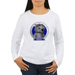 Binky's Blue Portrait Women's Long Sleeve T-Shirt