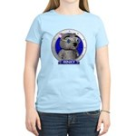 Binky's Blue Portrait Womens Light Colored T-Shirt